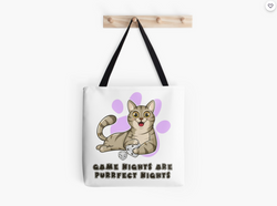 Purrfect Night Pudgy Cat - Tote Bag