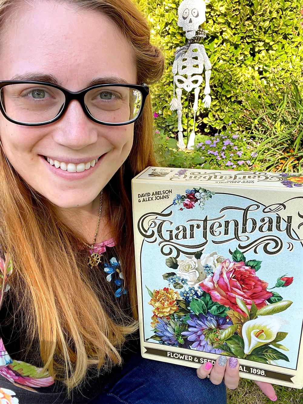Jacqueline with the Gartenbau box