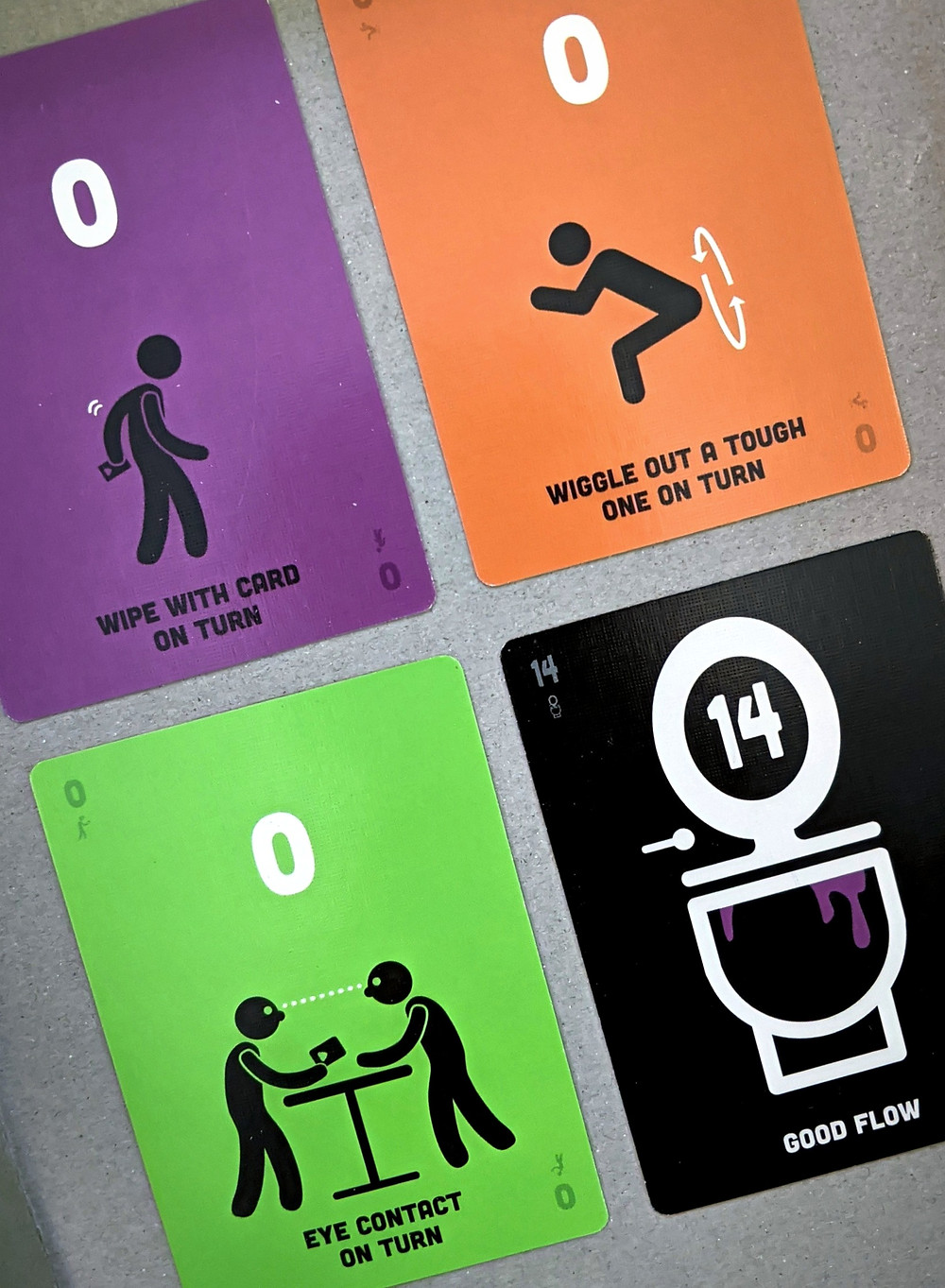 Poop: The Game wild cards and toilet