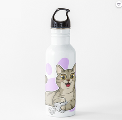 Pudgy Cat - Water Bottle