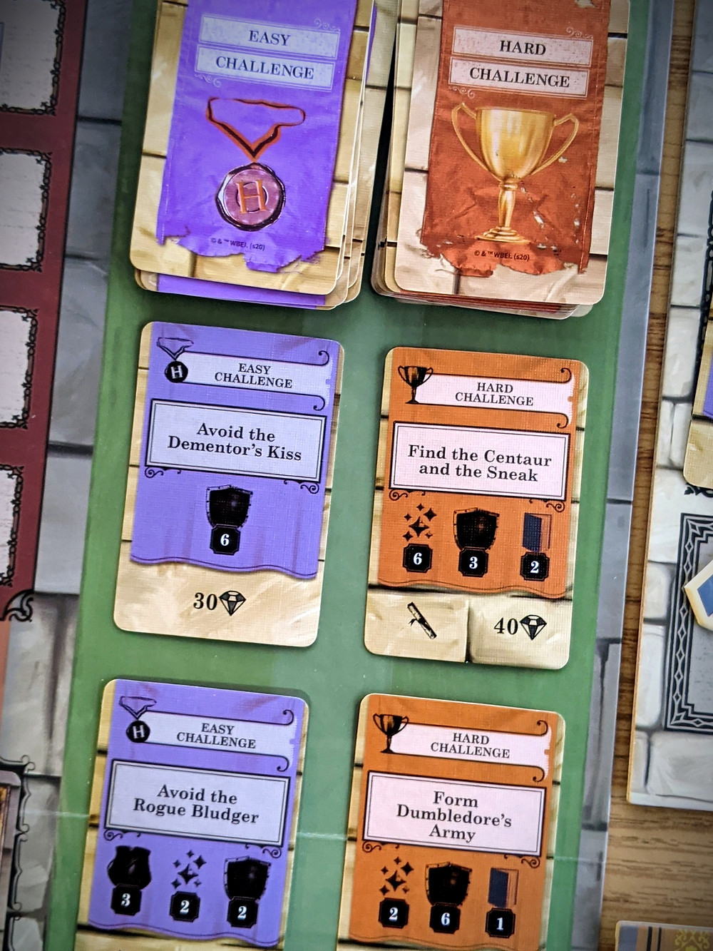 Harry Potter House Cup Championship Challenge Cards