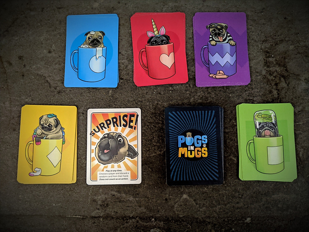 Pugs in Mugs Cards