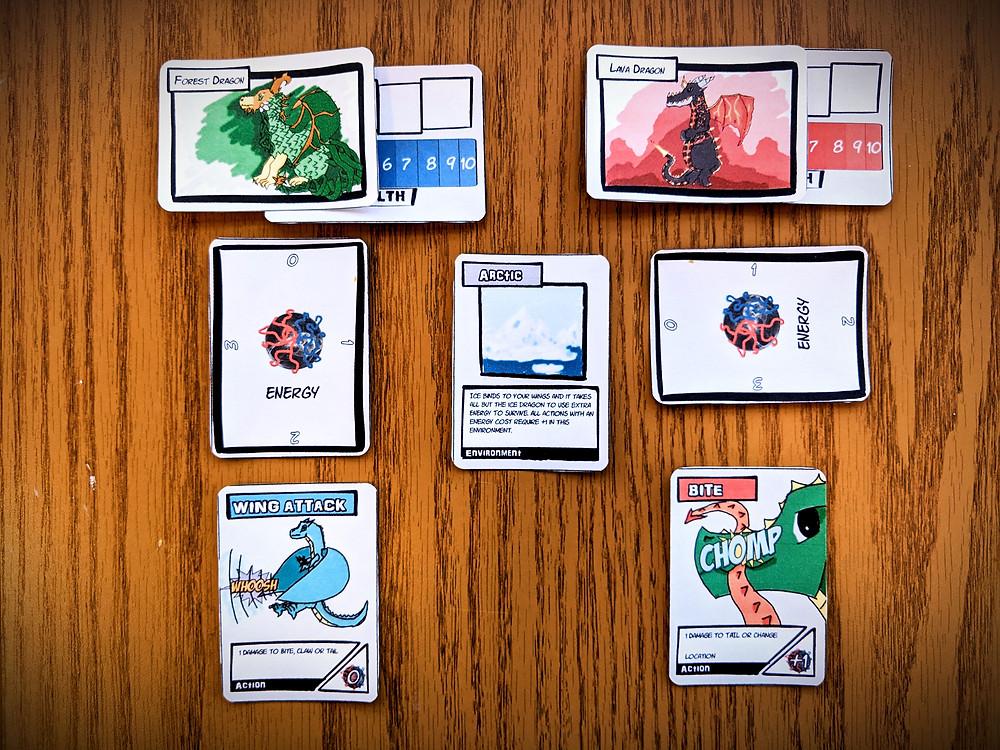Dragon Brawl game set-up layout