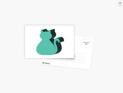 Cat Meeple - Postcard