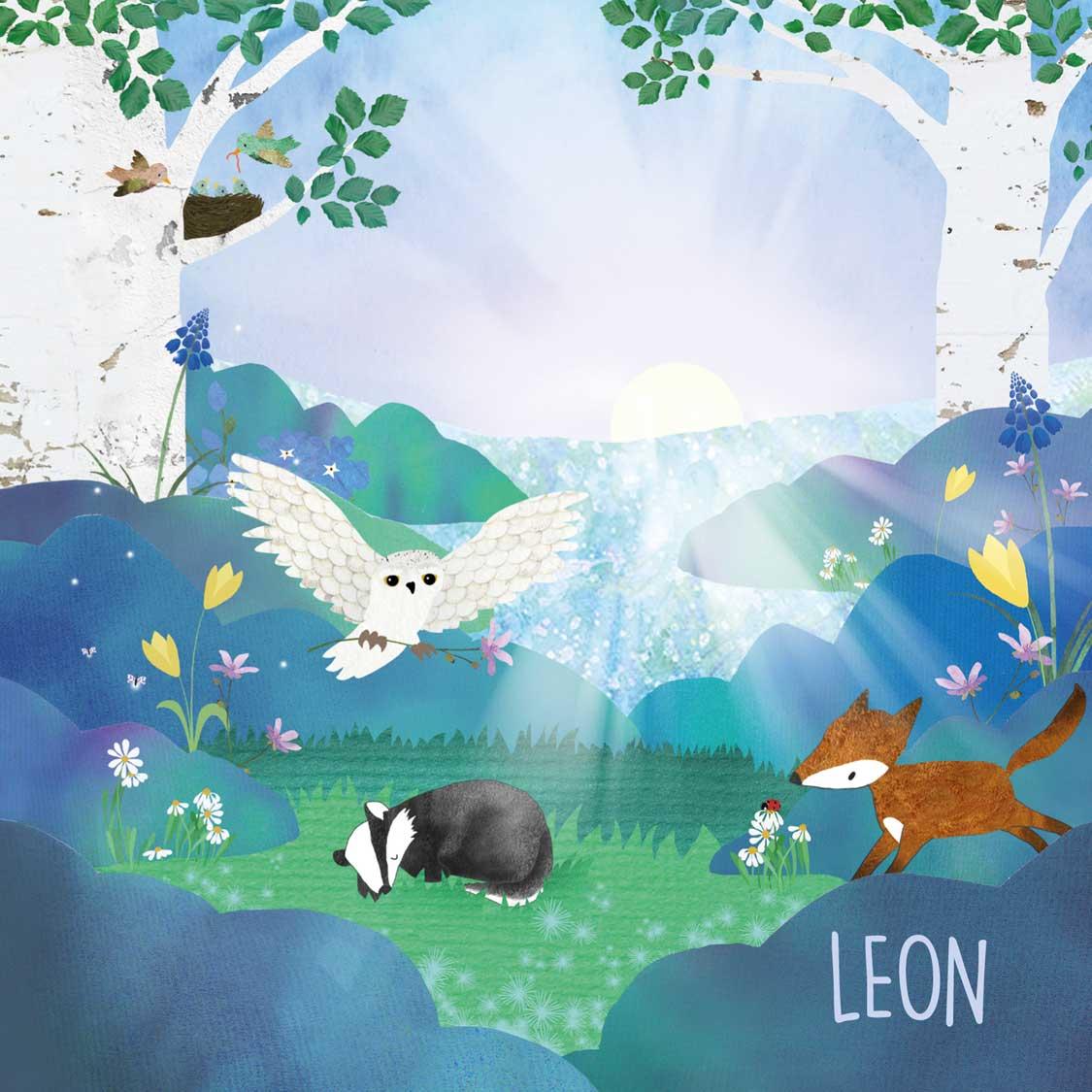geboortekaartje-Leon-voorkant