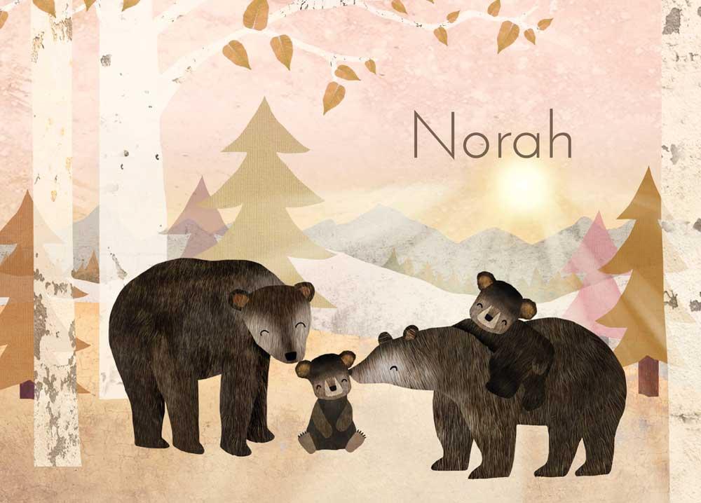 geboortekaartje-Norah-voorkant