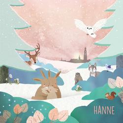 geboortekaartje-Hanne-voorkant