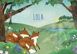 geboortekaartje-Lola-voorkant
