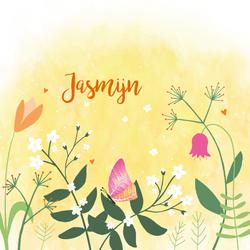 geboortekaartje-Jasmijn-voorkant