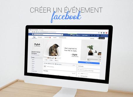 Créer un évènement sur Facebook