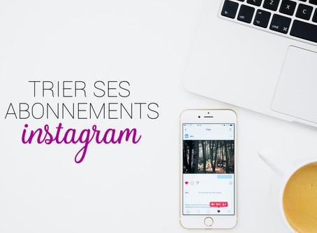 Instagram permet de trier vos abonnements par catégorie