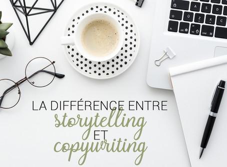 La différence entre le storytelling et le copywriting