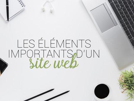 Les éléments importants sur un site web