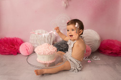 1 an bébé smash the cake rose studio
