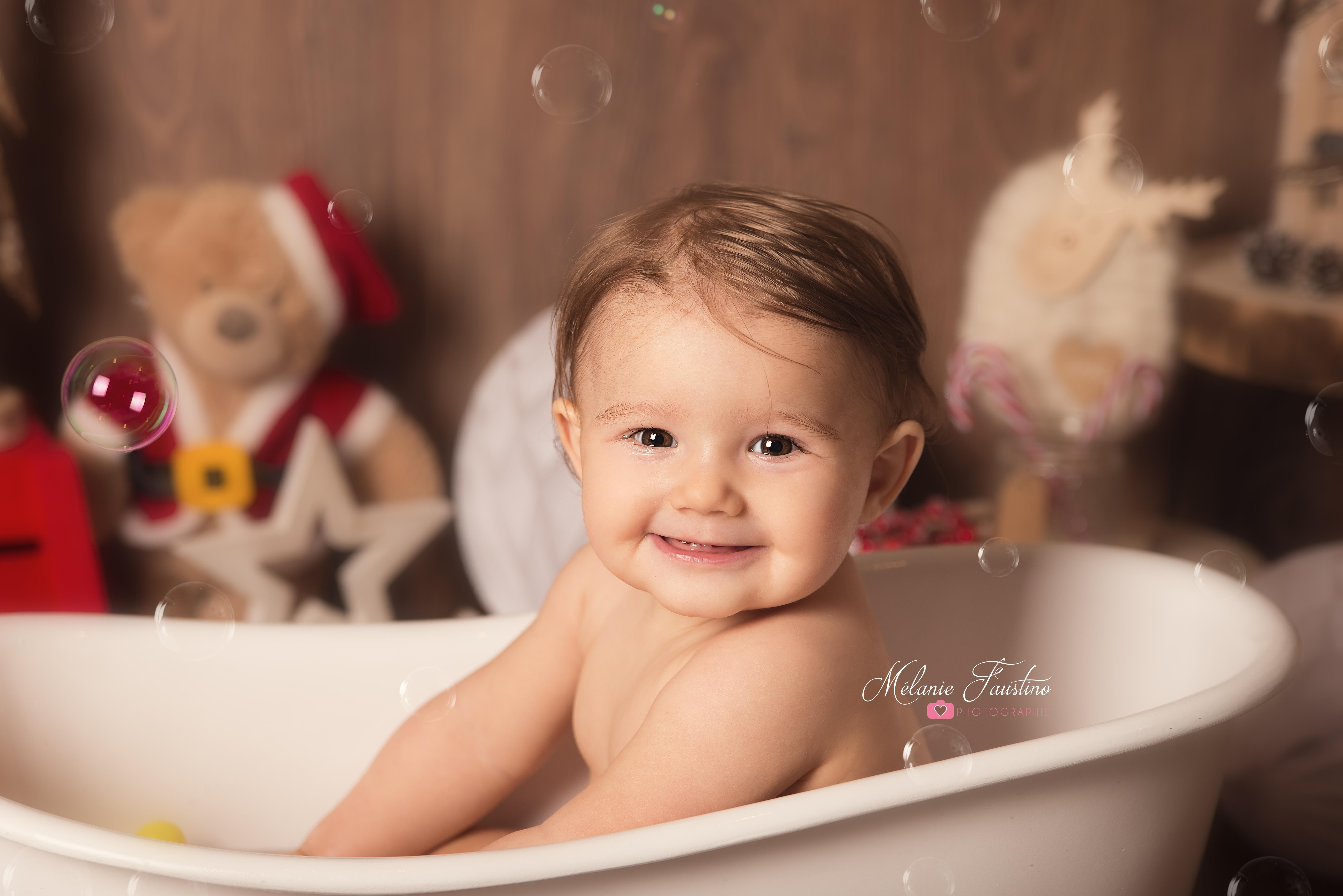 photographe studio bébé anniversaire