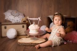 smash the cake vintage fille photo
