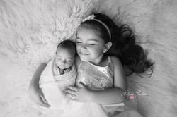 photo bébé grande soeur naissance 75
