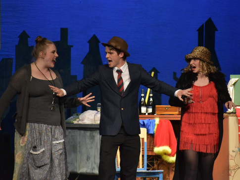Join Hannigan, Rooster, and Lily on EASY STREET