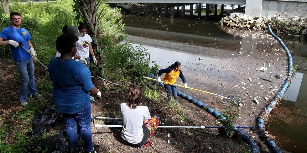 Watergoat Cleanup at Bartlett Park Salt Creek
