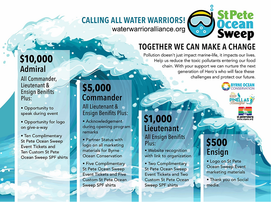 St. Pete Ocean Sweep- sponsorship flyer.