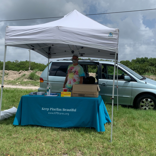 KPB helping out at Gandy- St. Pete Ocean Sweep 2020