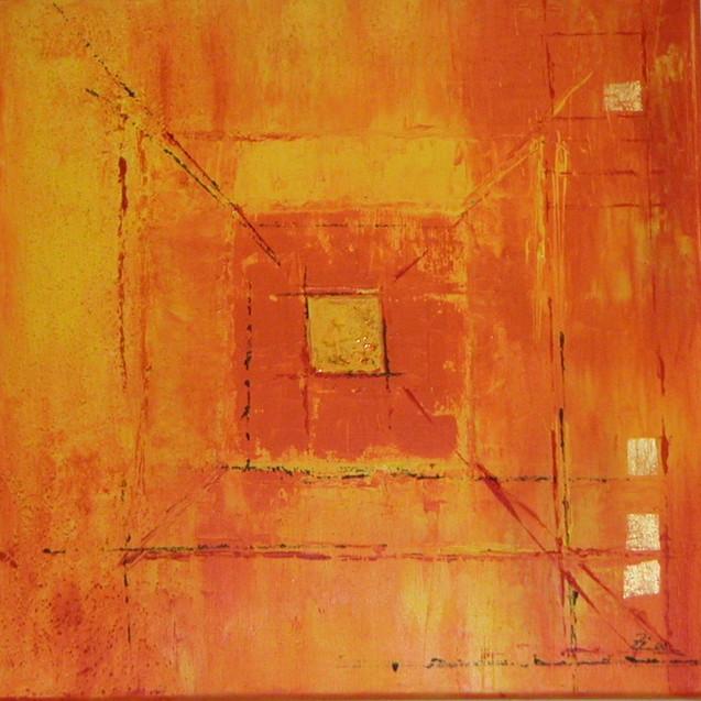 Quadrat in organge