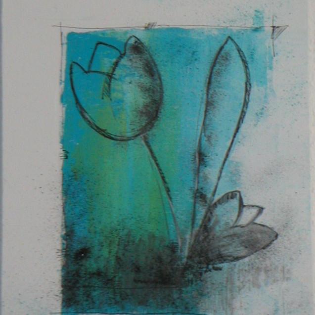 Tulpe in blau