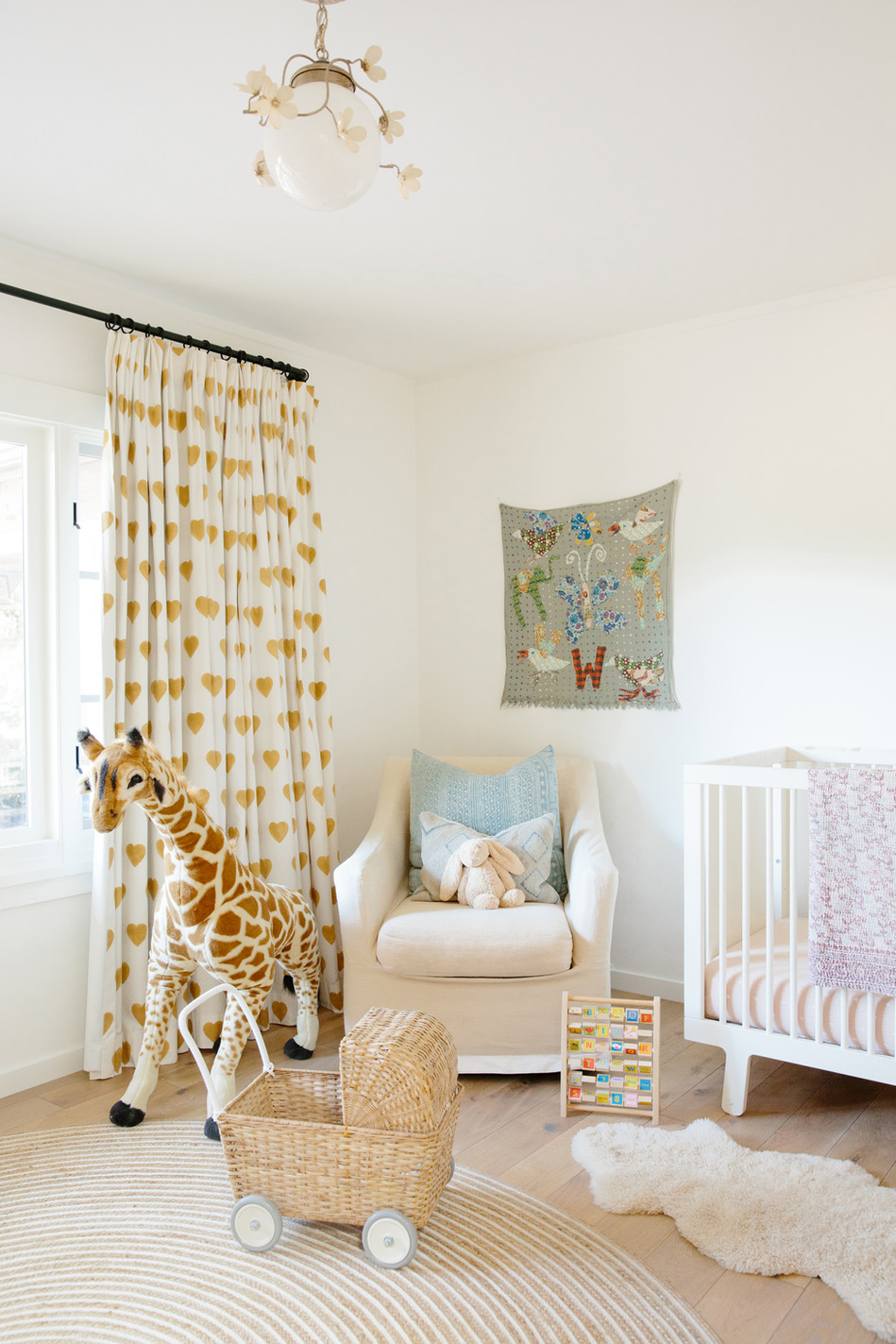 Califonia casual neutral nursery by Lilly Walton Design Ojai, Ca