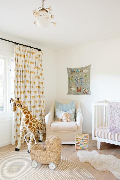 Califonia casual neutral nursery by Lilly Walton Design Ojai, Ca