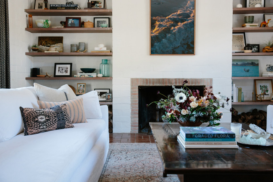 California casual living room by Ojai, CA interior design studio Lilly Walton Design