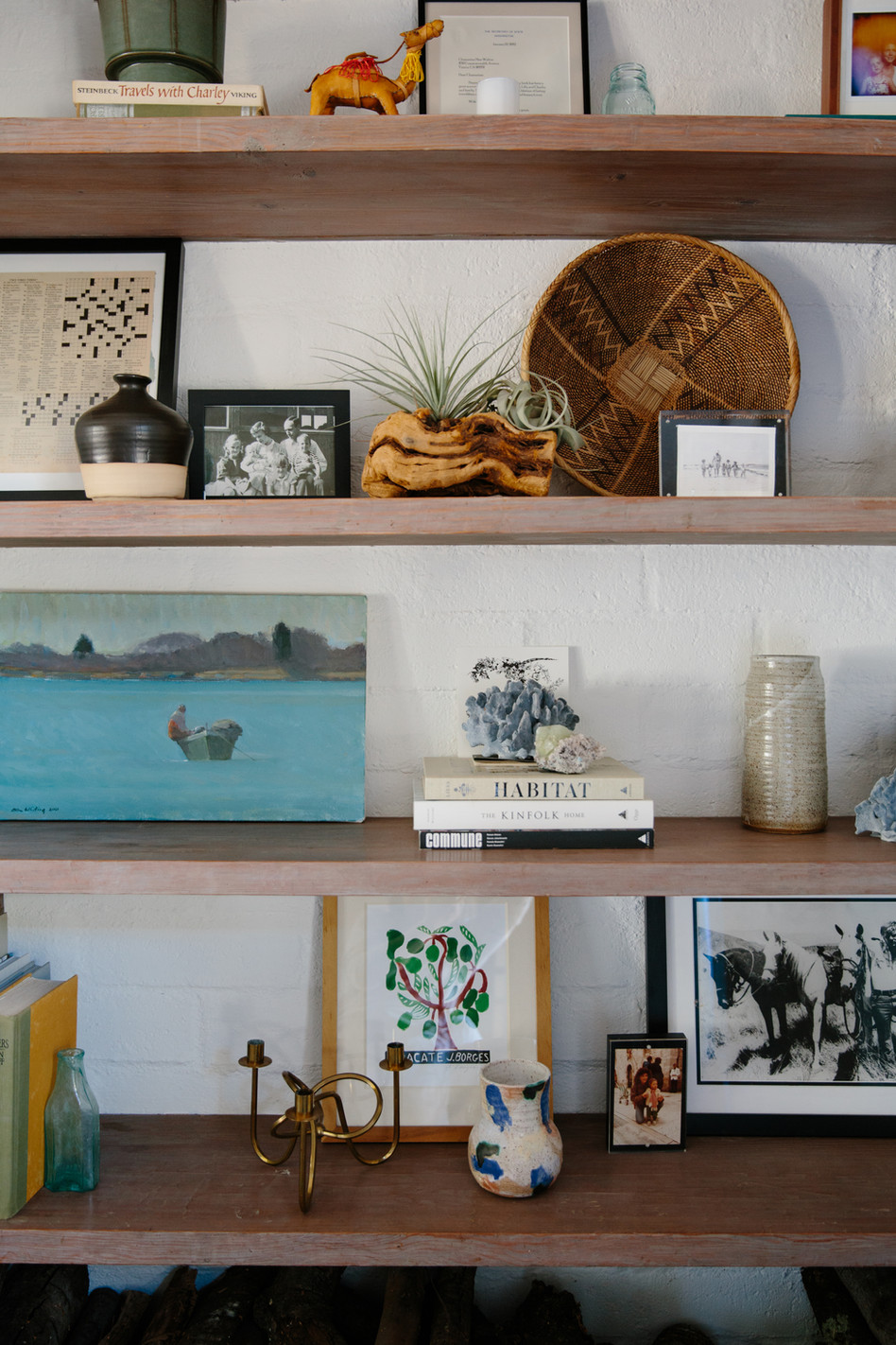 Living room shelfie in Ojai, CA by Interior designer Lilly Walton Design