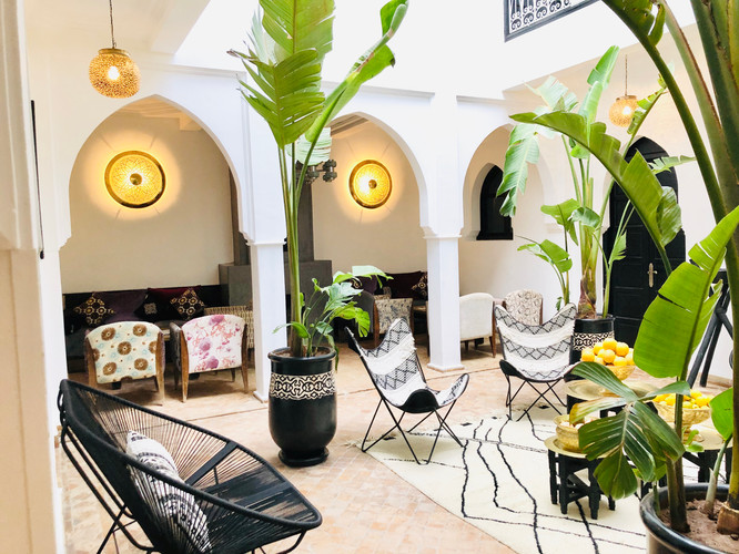 Living room Riad Chafia Marrakech boutique hotel riad marrakesh morocco