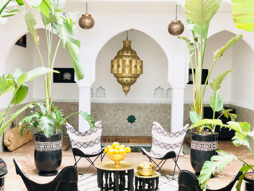 Lamp Interior pool Riad Chafia Marrakech boutique hotel riad marrakesh morocco