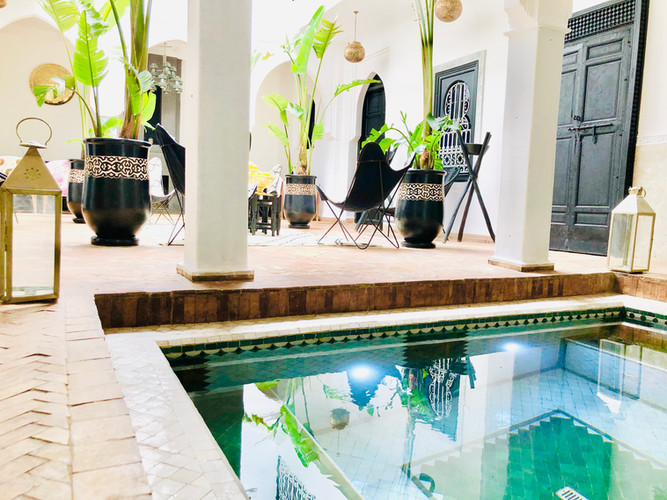 Pool design Riad Chafia Marrakech boutique hotel riad marrakesh morocco