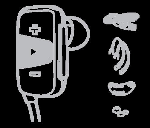 Jam Transit Mini  無線防水運動藍牙耳機完整配件