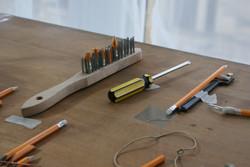Drawing Tools, Mixed Media, 2018.