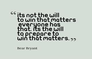 Are You Prepared to Win?