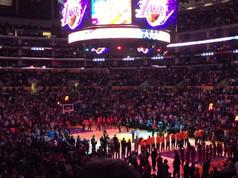 Derick Sebastian LIVE AUDIENCE VERSION National Anthem in LA STAPLES CENTER, Lakers/Cavaliers game!