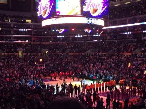 Derick Sebastian LIVE AUDIENCE VERSION National Anthem in LA STAPLES CENTER, Lakers/Cavaliers game!