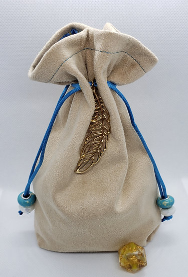 Gold Feather Dice Bag