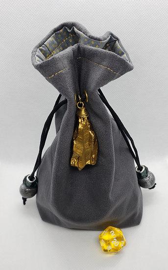 Gold Nugget Dice Bag
