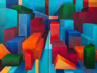 Diverse cities views_120x180cm_Acrylic o