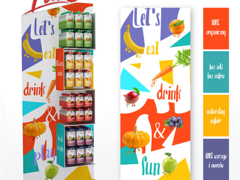 It was Holofx teamwork, I had to think up the concept of Pure product stand look (graphics only). The 3D graphics team modeled the director's concept. Next, I designed a few graphic propositions for it in diverse styles. Finally, one of the team versions was produced and available in few best deli shops in Poland.