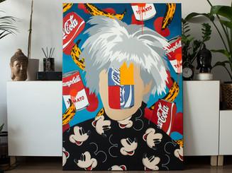 Faces and symbols - Warhol
