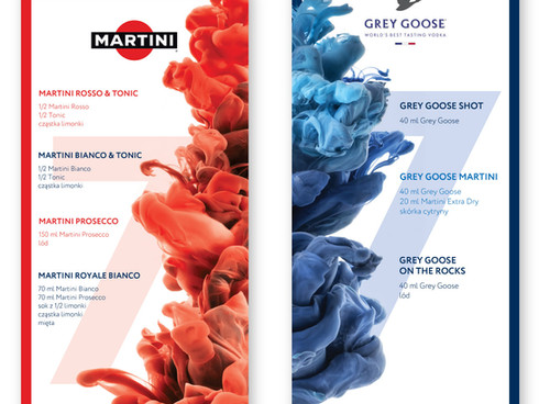 In Holofx I had to design Martini & Grey Goose drink lists for K MAG x Martini party. Polish stars were invited to celebrate the 7th anniversary of K MAG magazine.