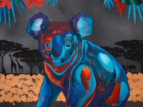 Mischievous life of a koala bear