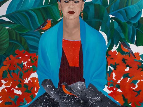 Frida with nightingales