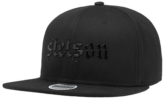 BASEBALL CAP COTTON STETSON BLACK LINE