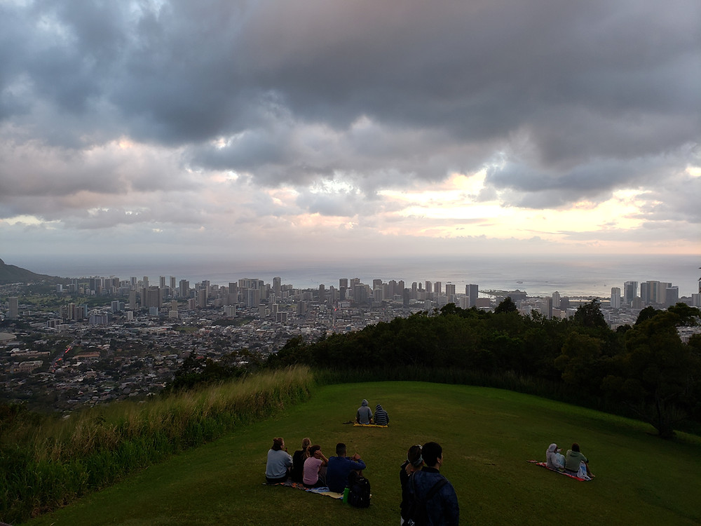 In 1890, the residents of Honolulu petitioned the Kingdom of Hawaii for a carriage road to the top of Tantalus. The mountainous terrain required switchbacks, hairpin turns, and routes along the ridge. The scenic values of the road were recognized when the government reserved sections along the roadway. The topography and forest landscape created a unique recreational experience with panoramic views of Honolulu, Diamond Head, and the Wai'anae Mountains.