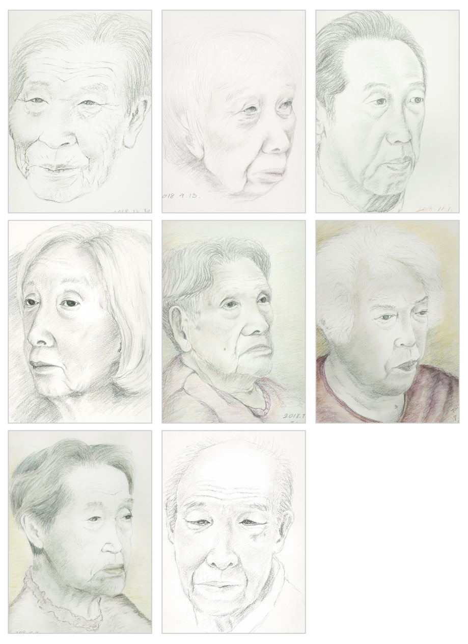 Portrait series at nursing home